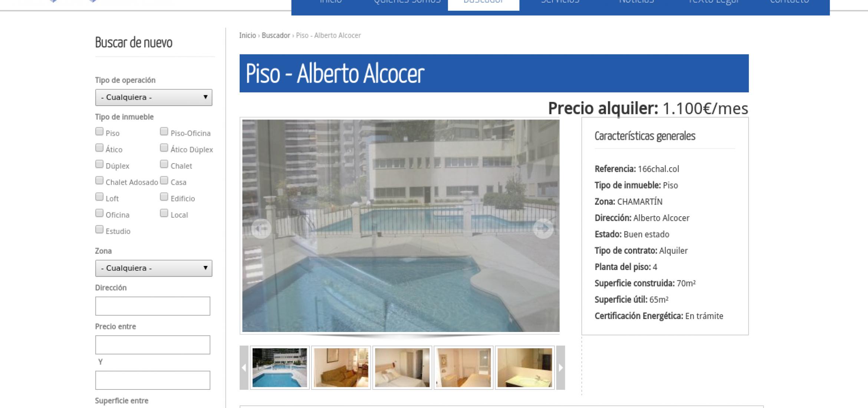 Inmobiliaria Activo Residencial: Ficha de inmueble